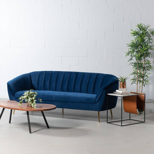 AUDREY - Blue Fabric Sofa
