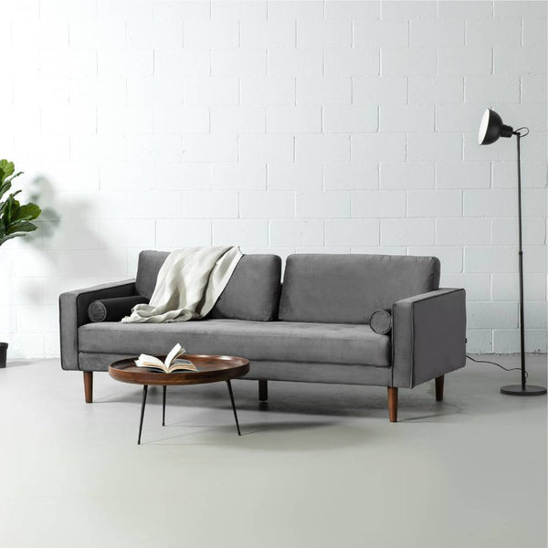 FONDA - Dark Grey Fabric Sofa