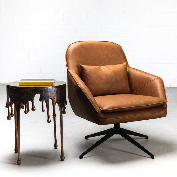 DIOR - Brown Leather Lounge Chair
