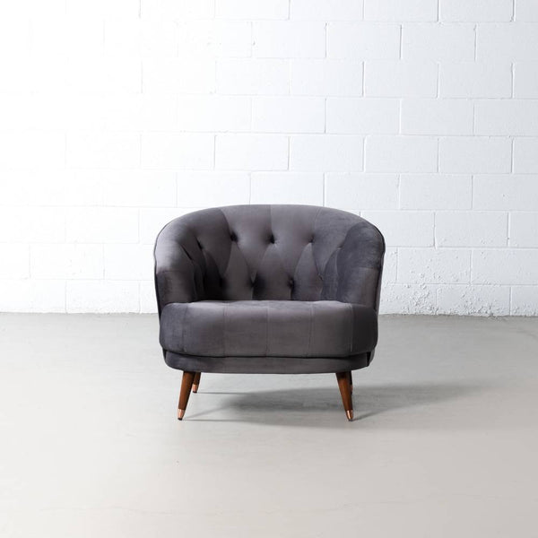 MARLON - Grey Fabric Chair