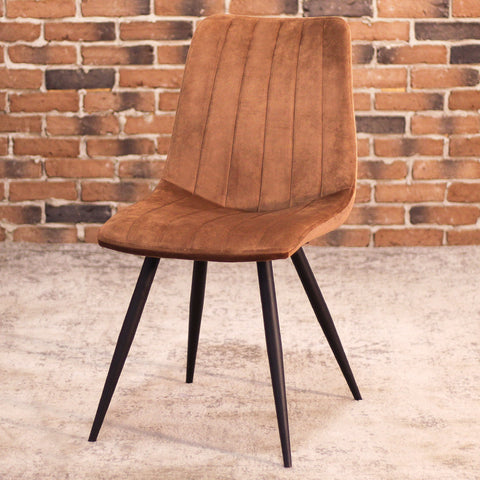 ZANE Brown Velvet Dining Chair