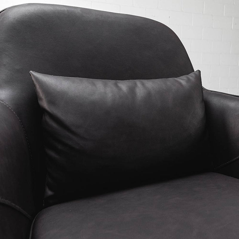 DIOR - Black Leather Lounge Chair