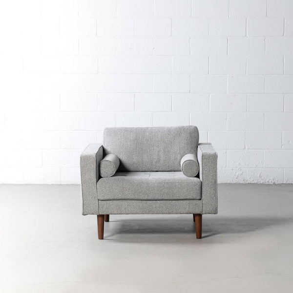 FONDA - Grey Fabric Chair