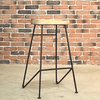 MAYER Rustic Tractor Wooden Bar Stool