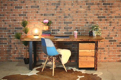 HAROLD Acacia Live Edge Desk - Wazo Furniture