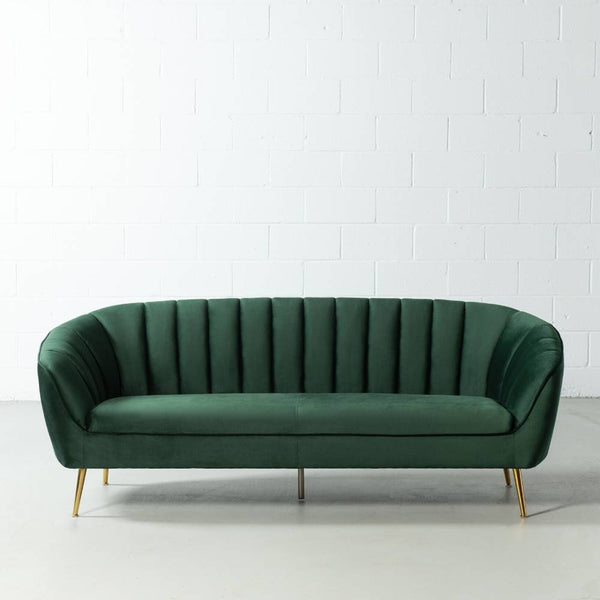AUDREY - Green Fabric Sofa