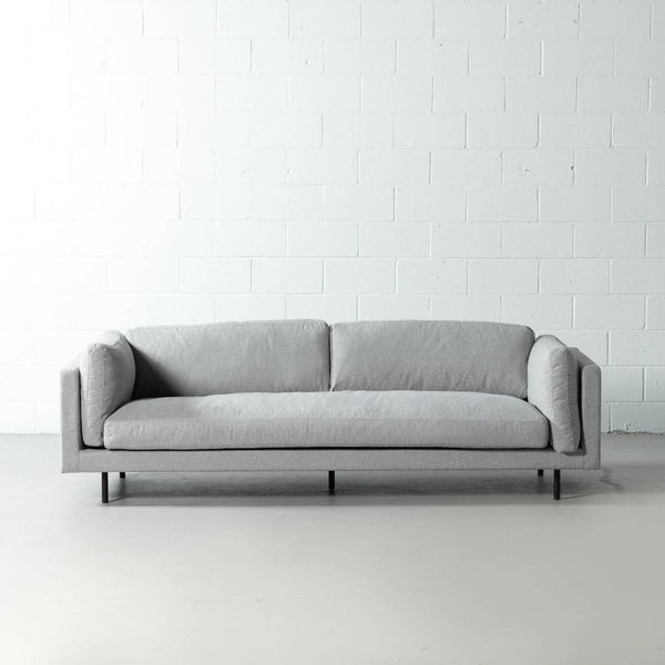 OWEN - Grey Fabric Sofa