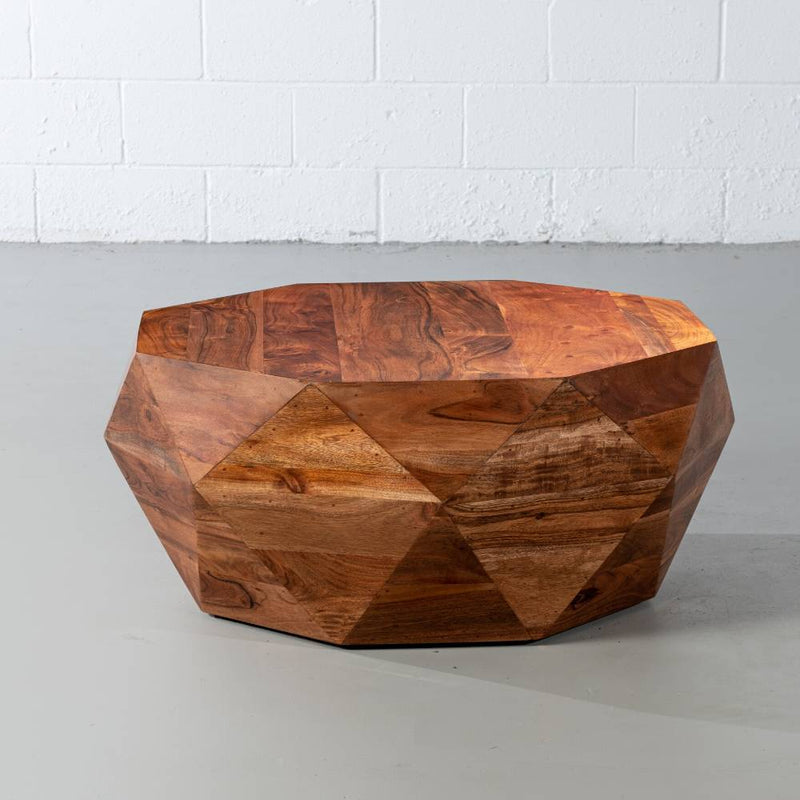 DUPONT - Acacia Wood Diamond Coffee Table - Wazo Furniture