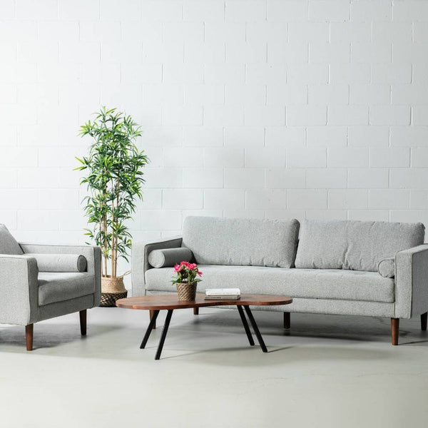 FONDA - Grey Fabric Sofa