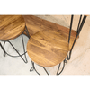 MATTIA - Acacia Wood Console Table Set-Table-Wazo Furniture