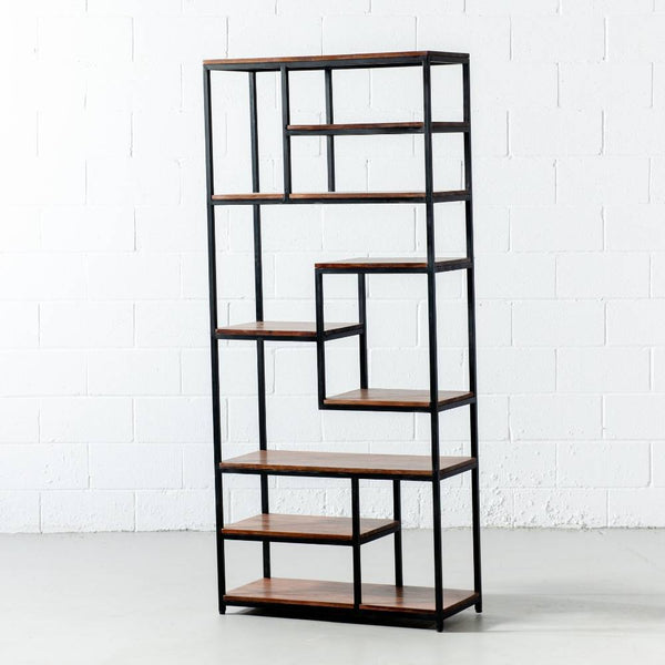 MEDELLIN - Acacia Wood Open Bookcase - Wazo Furniture