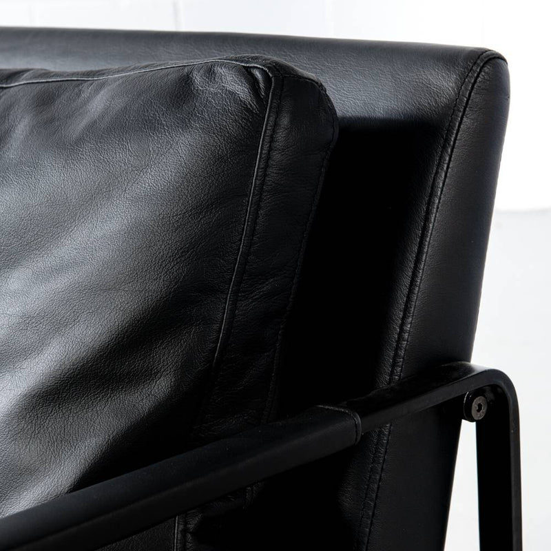 LAYTON - Black Leather Lounge Chair - Wazo Furniture