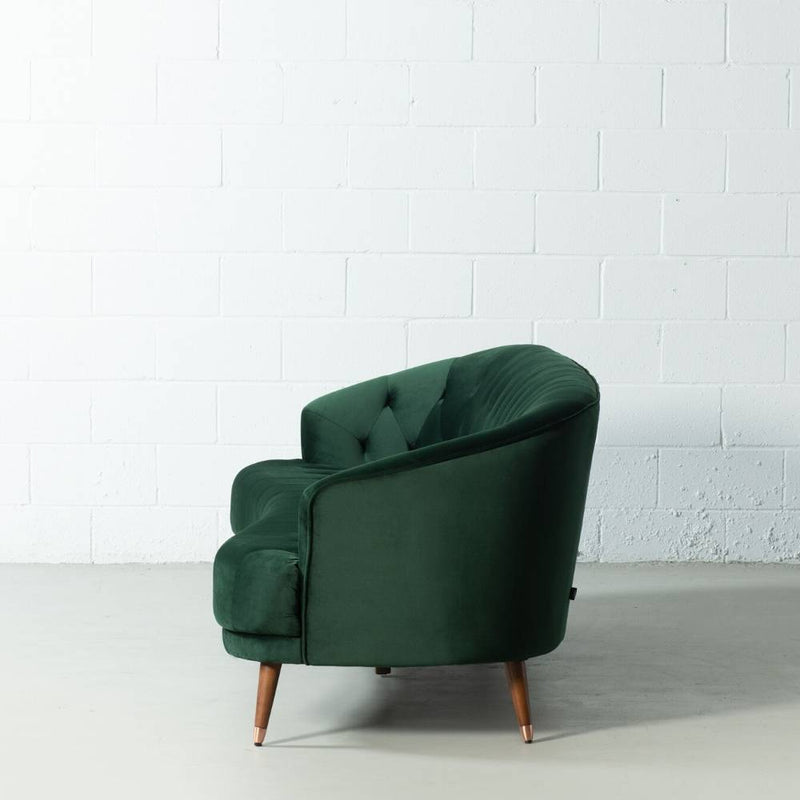MARLON - Green Fabric Sofa