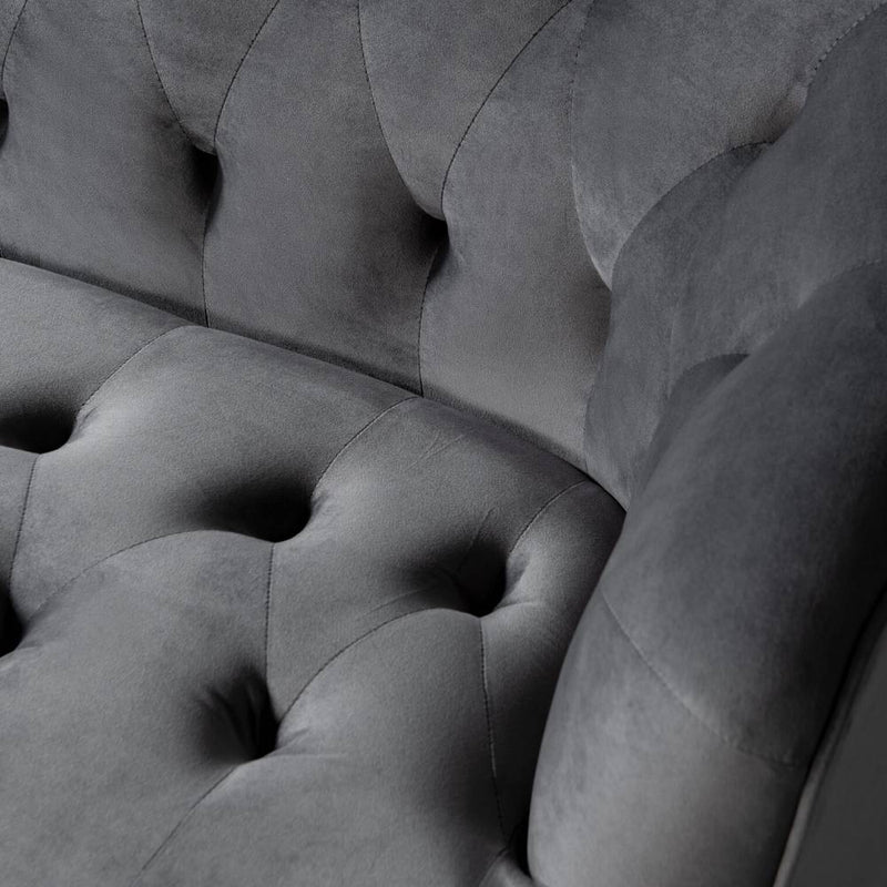 MARLON - Grey Fabric Sofa
