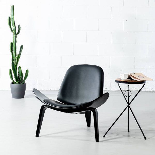 VELA - Black Shell Chair - Wazo Furniture