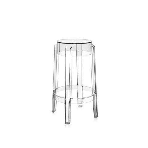 Starck Style Round Ghost Bar Stool - Final Sale