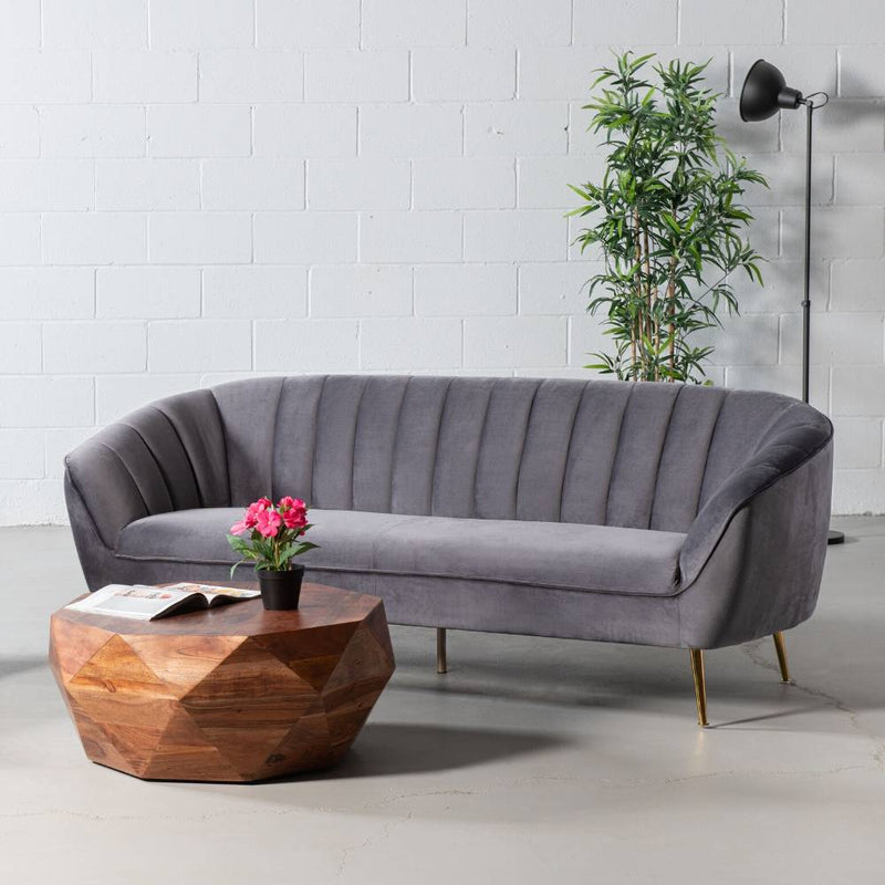 AUDREY - Grey Fabric Sofa