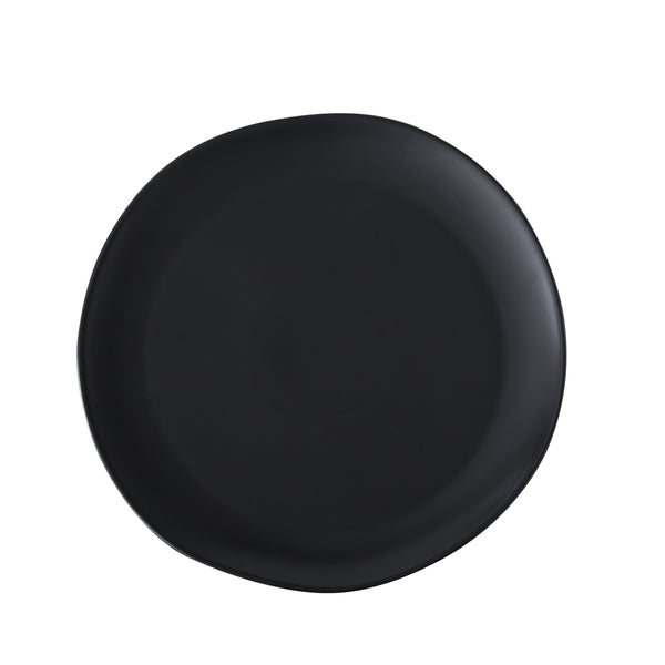 "HUGO - Black Dinner Plates 10"" (4 pc)"