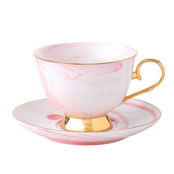 CHAPELLE - tasse à thé rose (2 pc)