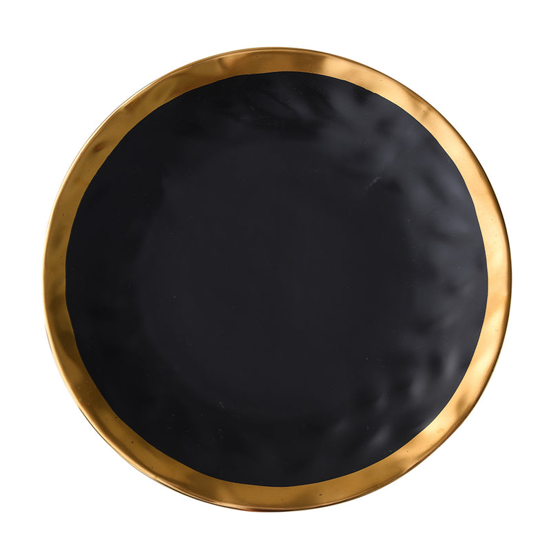 "JULES - Black Dinner Plates 10"" (2 pc)"