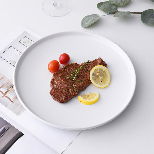 CARREL - White Dinner Plates (2 pc)
