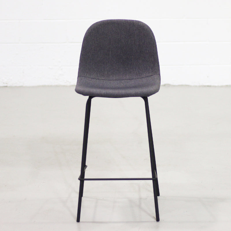 MILAN - Dark Grey Fabric Bar Stool (65 cm +75 cm) - Wazo Furniture