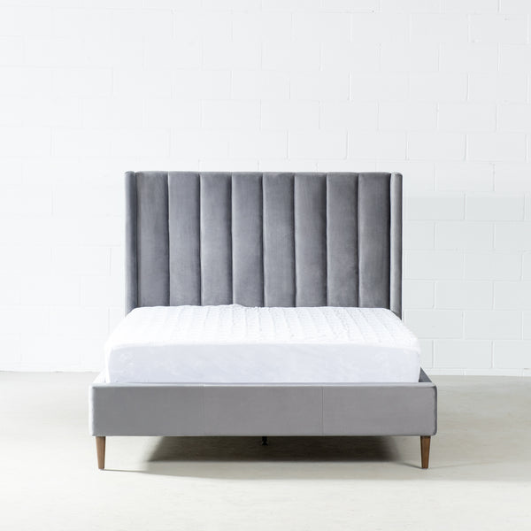 KASIDY - Grey Fabric Bed