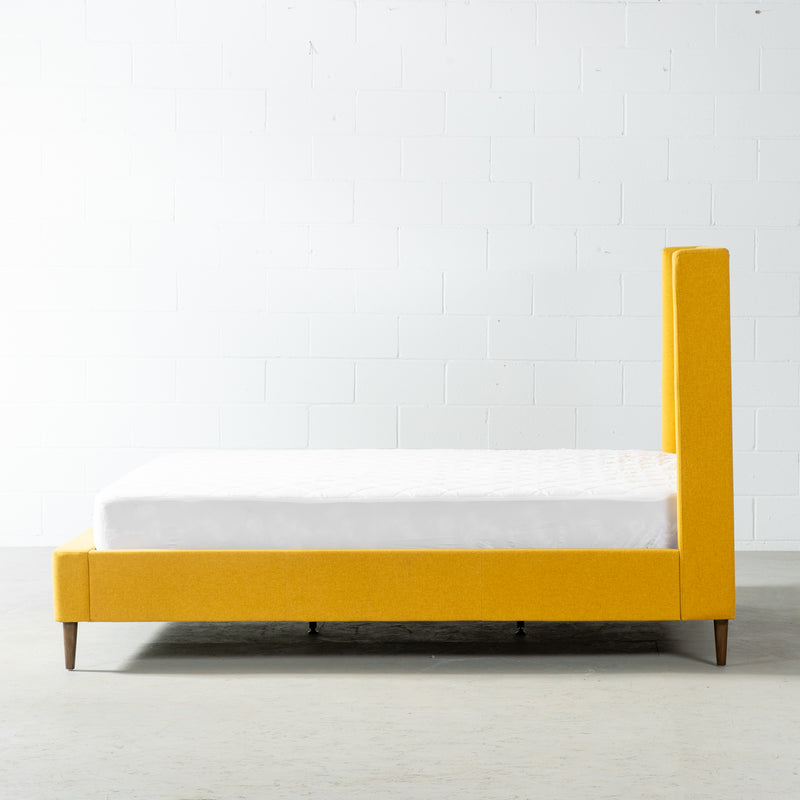 KASIDY - Yellow Fabric Bed