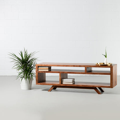 DAYTON-Mid Century Rustic Modern TV Unit - Wazo Furniture