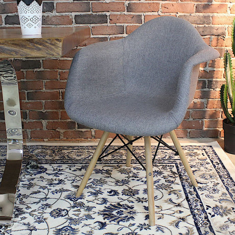 Eames Style Fabric Molded Armchair - Wazo Furniture