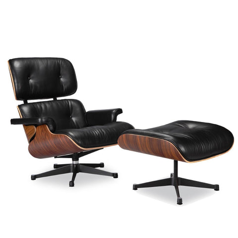 Eames Molded Lounge Chair and Ottoman - Wazo Furniture