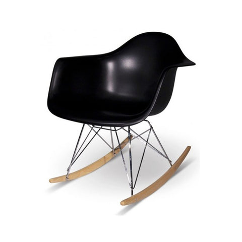 Eames Style Molded Armchair with Rocker Base