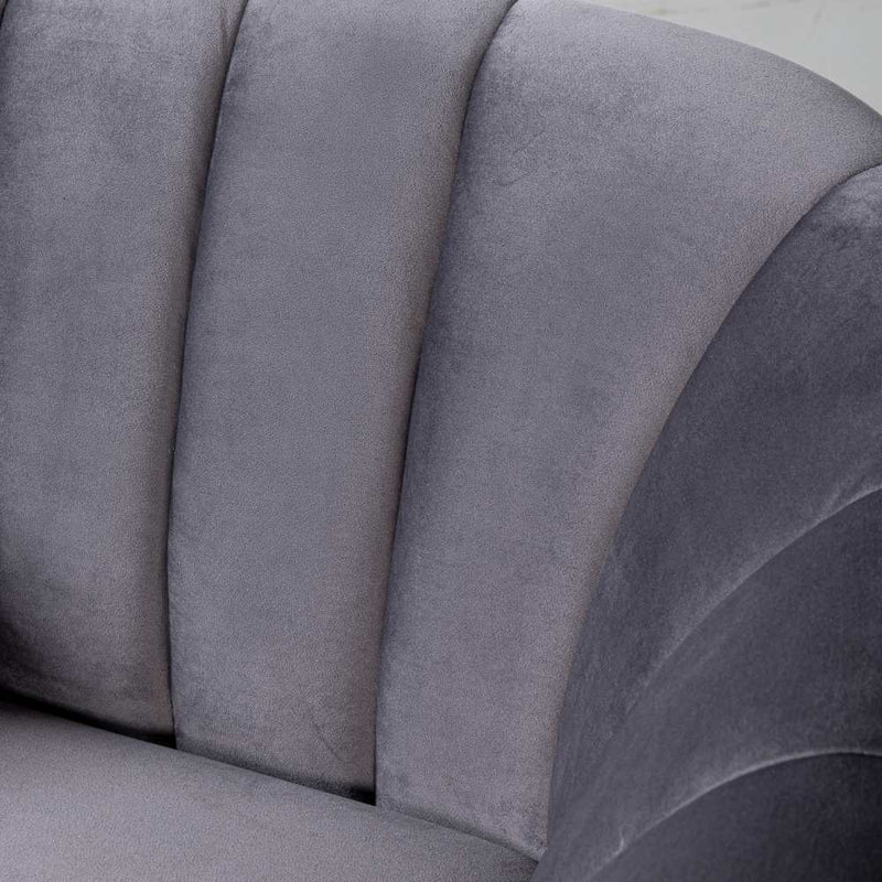 AUDREY - Grey Fabric Chair
