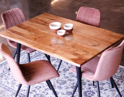 ESTRELA - Live Edge Acacia Dining Table - Wazo Furniture