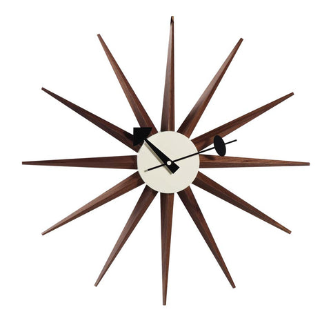 George Nelson Sunburst Clock Walnut