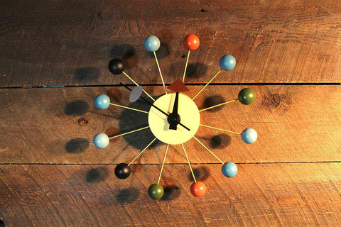 Nelson Ball Clock Inspired By George Nelson - Wazo Furniture