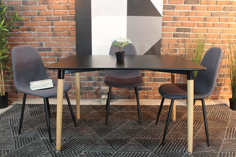 Eiffel Eames Style Rectangle Table - Black - Wazo Furniture