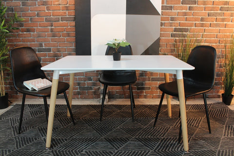 Eiffel Eames Style Rectangle Table (White) - FINAL SALE - Wazo Furniture