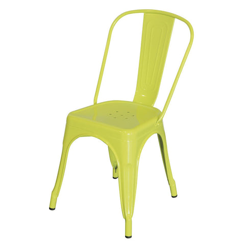 Tolix Seat Dining Chair - Yellow