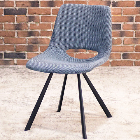 LORENA - Blue Fabric Dining Chair - Wazo Furniture