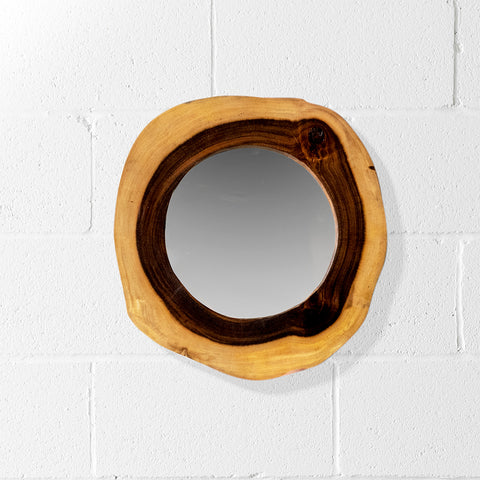 ALDER - Live Edge Suar Mirror (35 cm) - Wazo Furniture