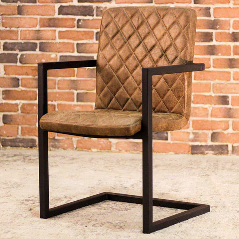 NORA - Brown Leather Dining Chair