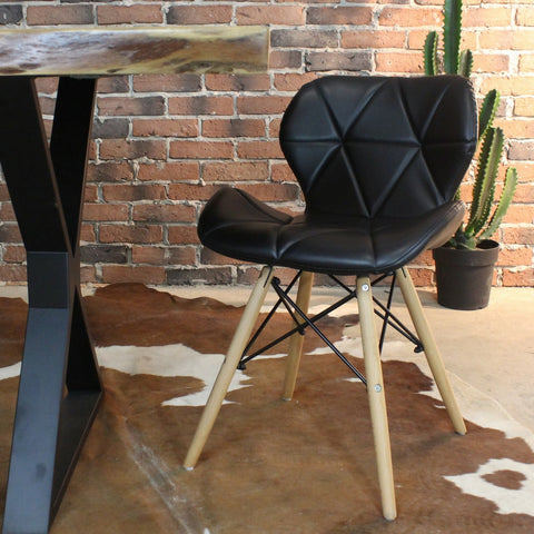 Eames Style PU Leather Pad Bunny Hampshire Side Chair - FINAL SALE - Wazo Furniture