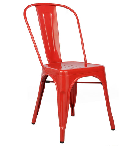Tolix Seat Dining Chair - Red, Blue, Green
