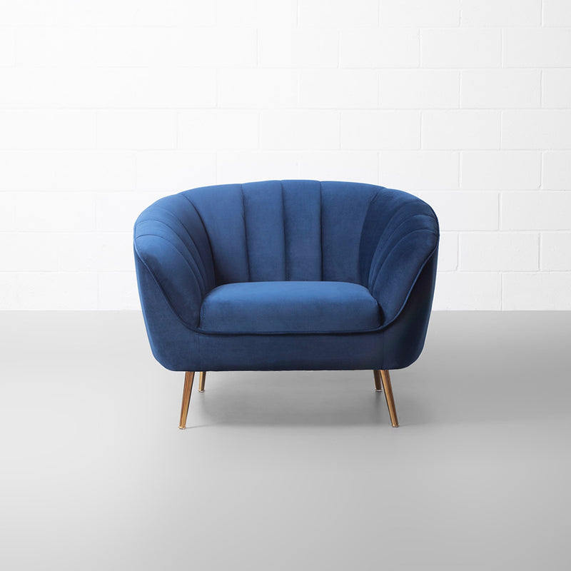 AUDREY - Blue Fabric Chair
