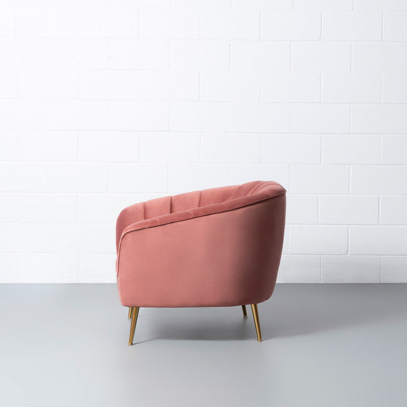 AUDREY - Pink Fabric Chair