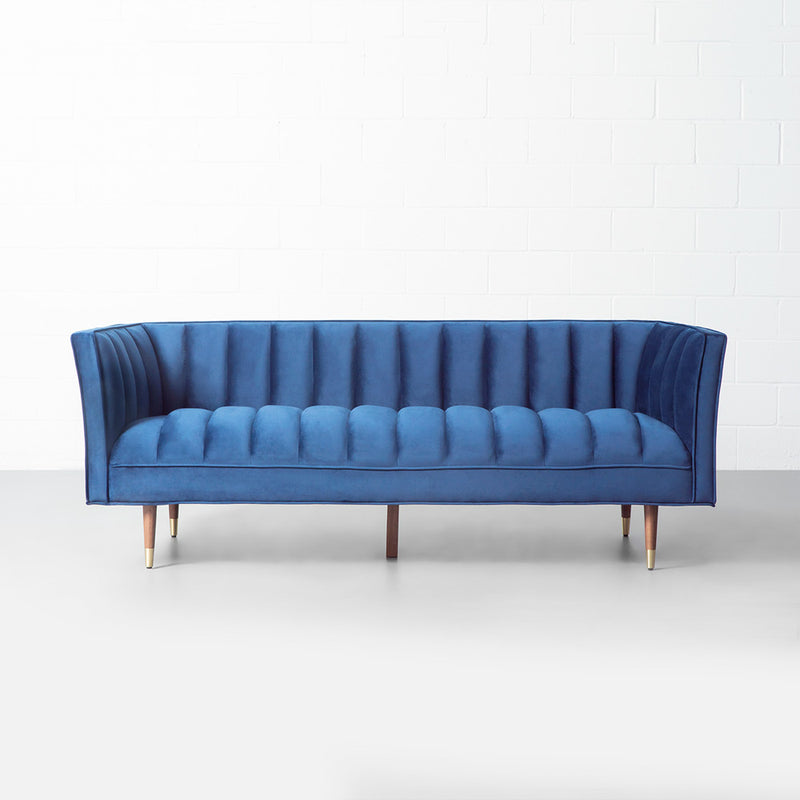 GRANT - Blue Fabric Sofa
