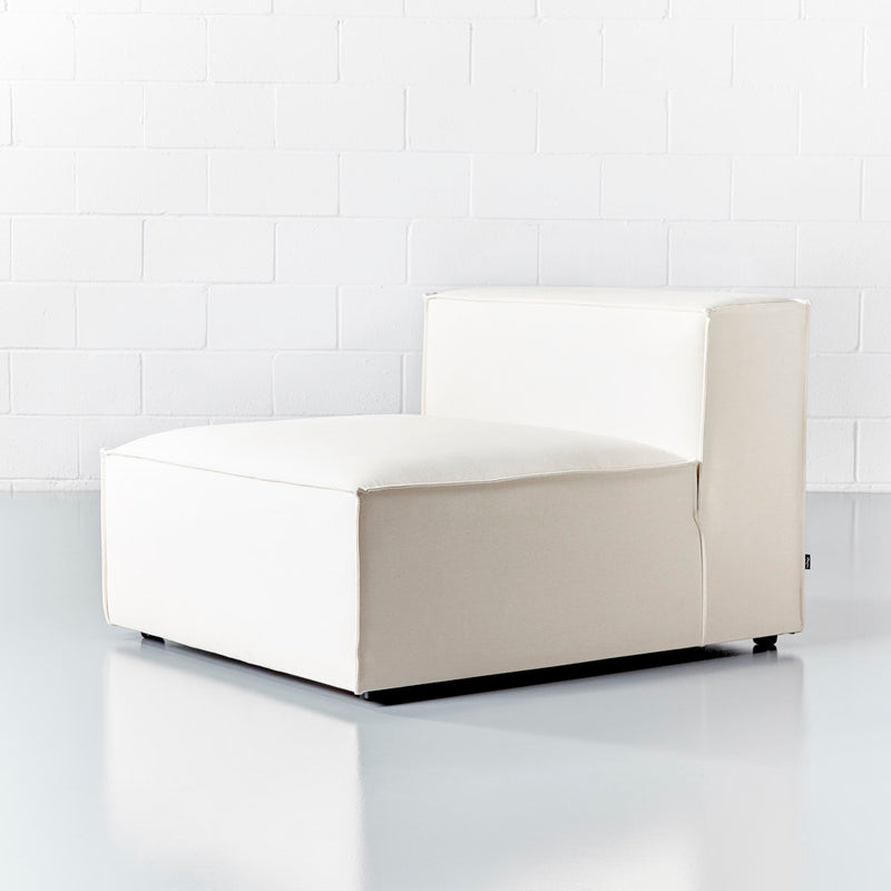 MASON - Cream Fabric Armless Chair Module