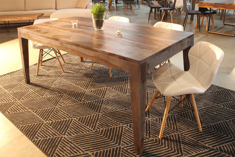Scandinavian Rosewood Table with Angled Wood Legs - Walnut