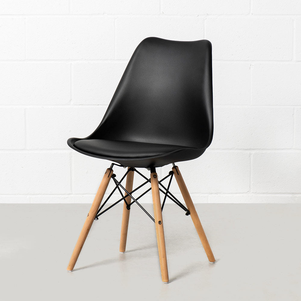 Eiffel Eames Style Padded Cushion Dining Side Chair Wazo Furniture